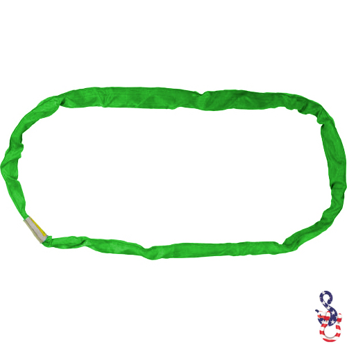 Green Polyester Round Sling X 12 Feet