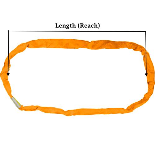 Orange 1700 Round Sling X 18 Feet