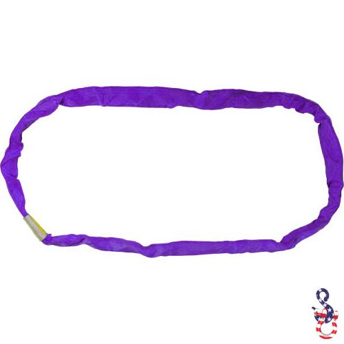 Purple Polyester Round Sling X 14 Feet