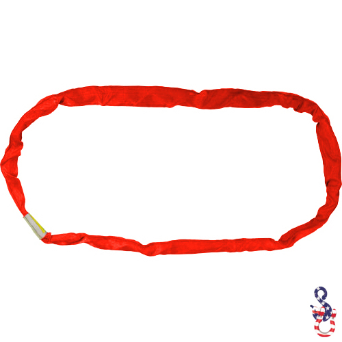 Red Polyester Round Sling X 8 Feet