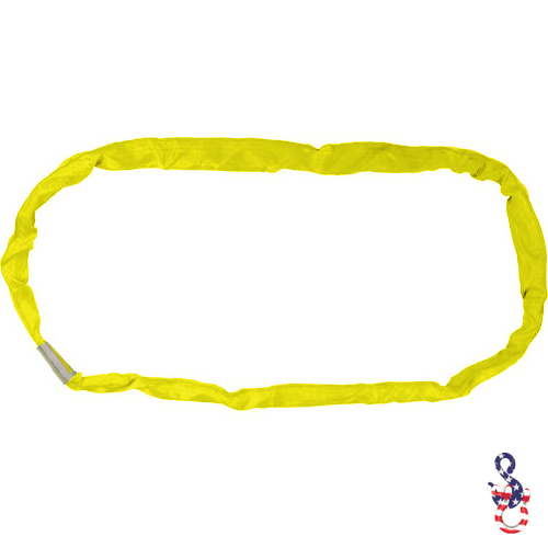 Yellow Polyester Round Sling X 20 Feet