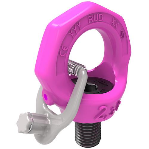 Rud 1 Inch Swivel Eye Bolt Starpoint Pink Hoist Ring